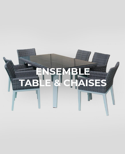 ensemble table chaise
