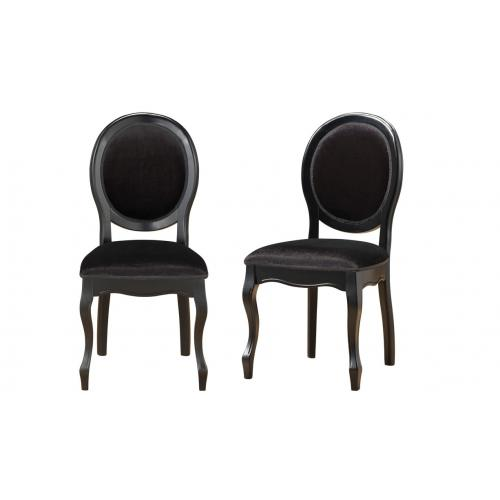 3S. x Home - Lot de 2 chaises médaillon noires PRINCE - Chaise
