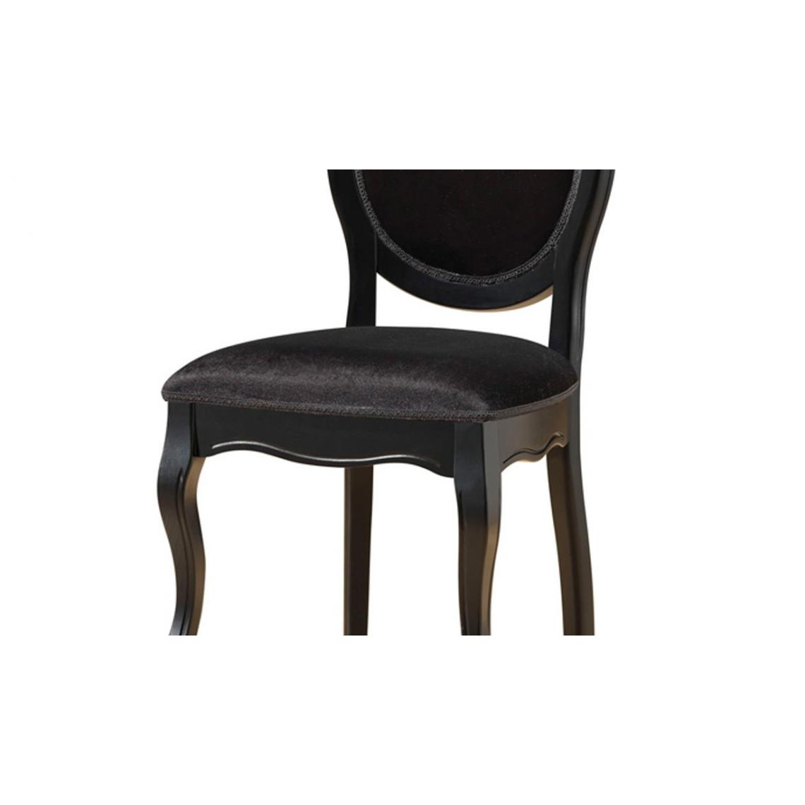 lot de 2 chaises m daillon noires antoinette 3suisses. Black Bedroom Furniture Sets. Home Design Ideas