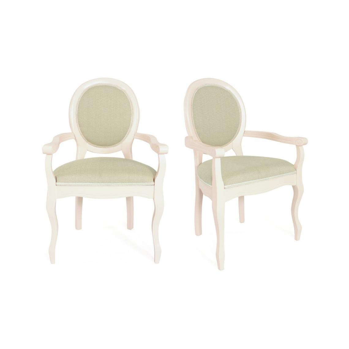 Lot de 2 chaises médaillon en tissu HENRIO
