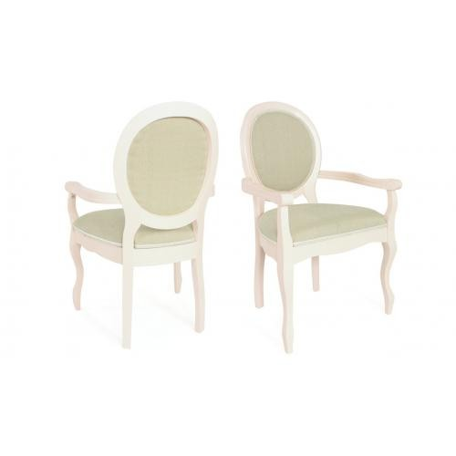 3S. x Home - Lot de 2 chaises m?daillon en tissu HENRIO - Chaise