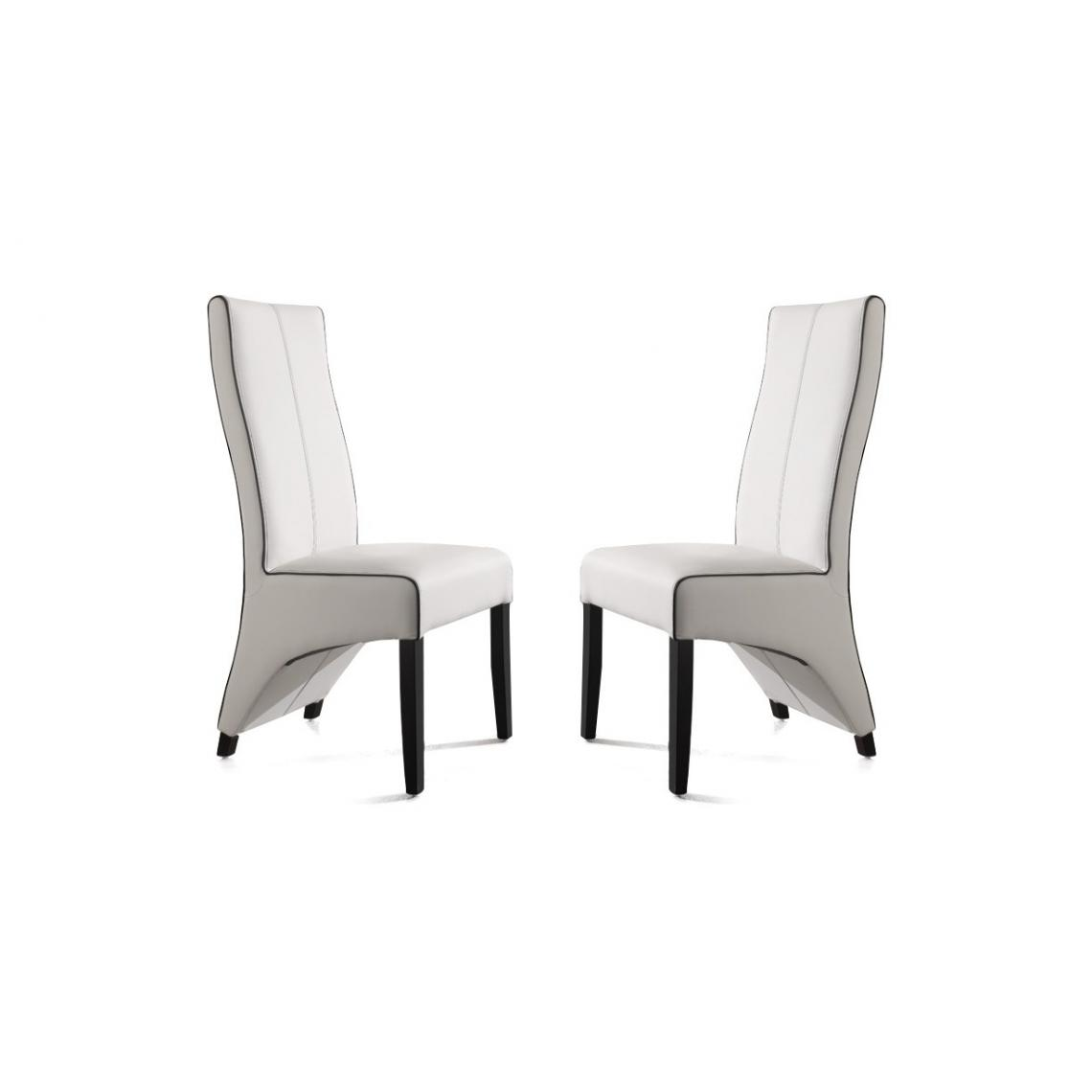 lot de 2 chaises fitzgerald blanc 3suisses. Black Bedroom Furniture Sets. Home Design Ideas
