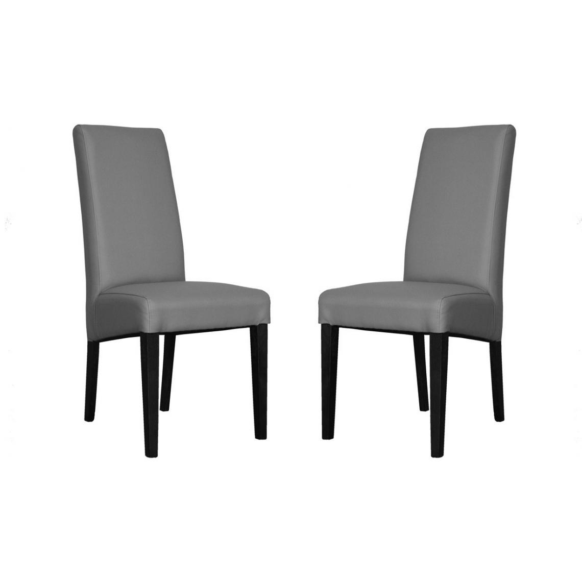 lot de 2 chaises adria gris 3suisses. Black Bedroom Furniture Sets. Home Design Ideas
