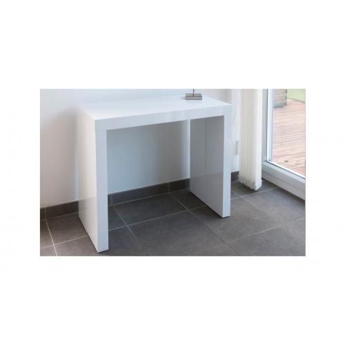 3S. x Home - Console extensible 225cm Blanc Laque MAXIMW - Console