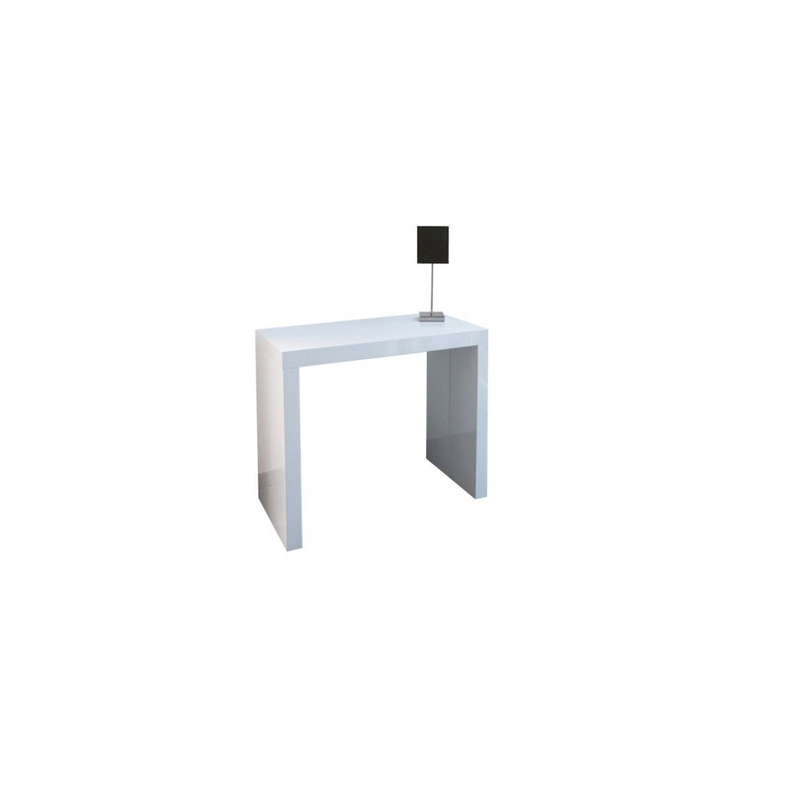 Objet Deco Laque Blanc console extensible 225cm blanc laque maximw 2 avis plus de détails