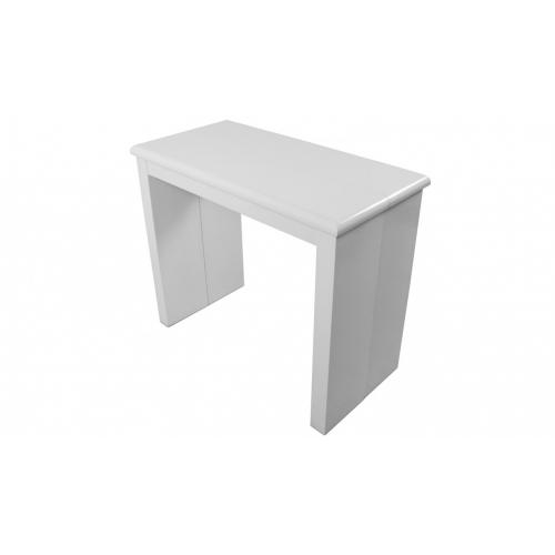 3S. x Home - Console extensible 195cm Blanc Laque MAXIMW - Table