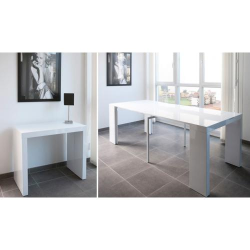 3 SUISSES - Console extensible blanche 250cm laque DINGO - Le salon
