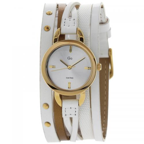 Go Girl Only - Montre Go Girl Only 698528 - Montre Cuir Blanche Femme