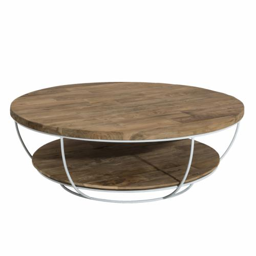 Macabane - Table basse double plateau en teck recyclé HEZO - Table basse
