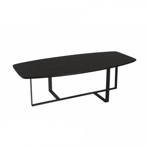 MACABANE - Table basse rectangulaire pieds métal ORLANDO - Table basse