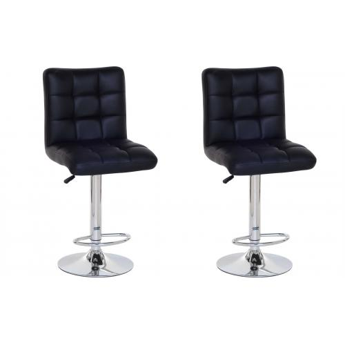3S. x Home - Lot de 2 Tabourets de bar COCO noir - Tabouret de bar