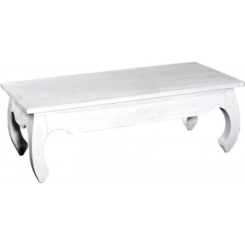 3S. x Home - Table basse rectangulaire bois blanche KABAENA - Table basse