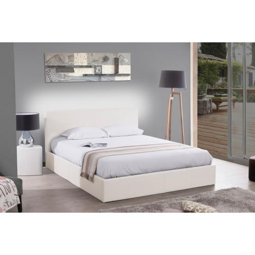 3S. x Home - Lit Coffre 140x190 Blanc ANTHOLOGIE - Sommier, lit