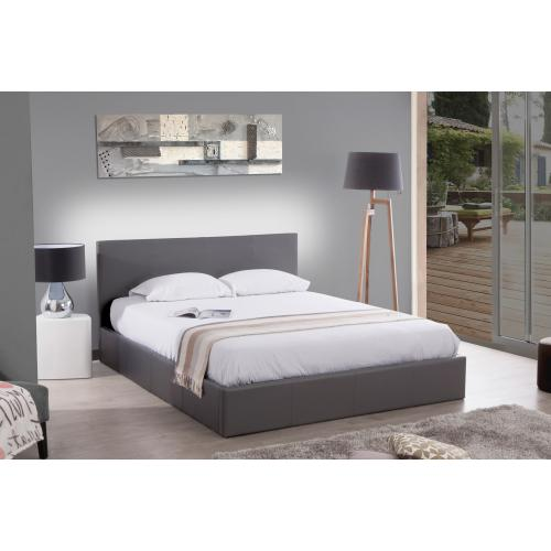 3S. x Home - Lit Coffre 140x190 Gris ANTHOLOGIE - Lit