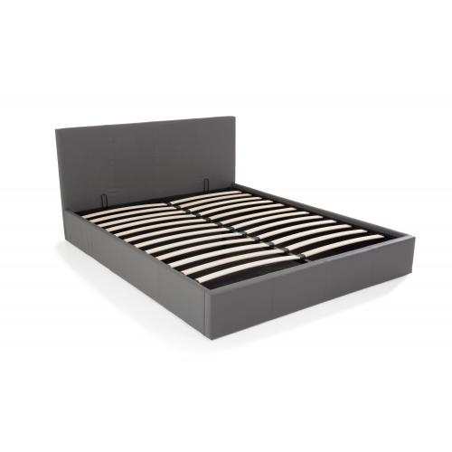 3S. x Home - Lit Coffre 160x200 Gris TONY - Lit