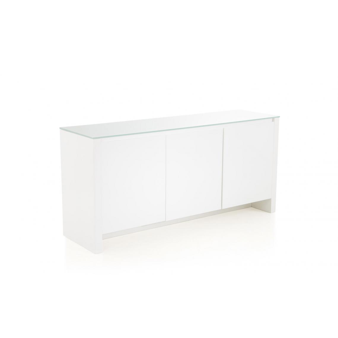 Objet Deco Laque Blanc buffet 3 portes laqué blanc abbe plus de détails