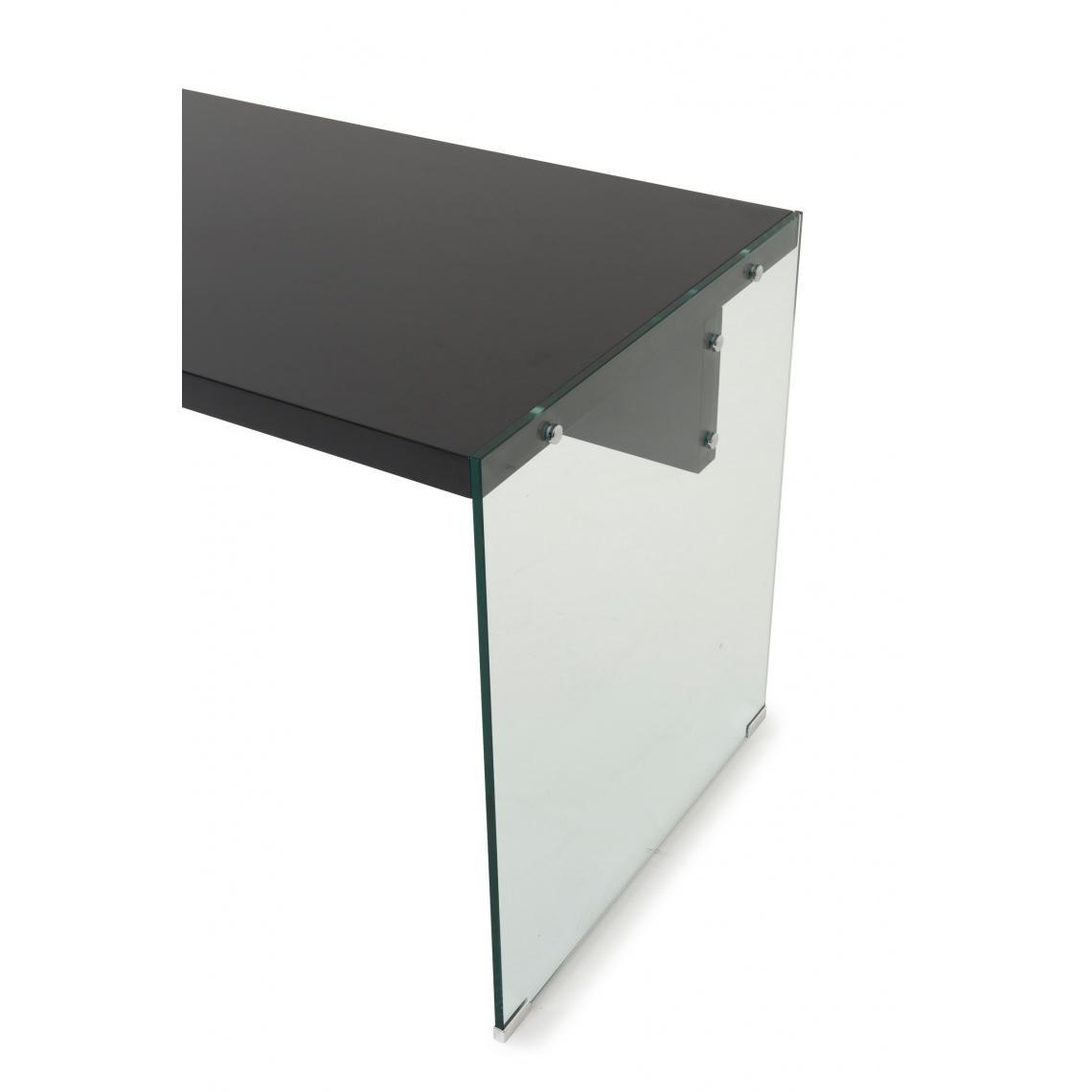 bureau verre transparent et noir ruben  3 suisses