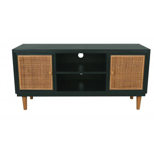 3S. x Home - Meuble TV Cannage Vert MACAE - Table basse