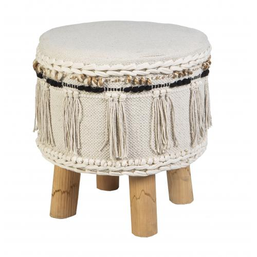3S. x Home - Pouf Ethnique ABEJA - Le salon