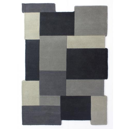 3S. x Home - Tapis Design Gris 240x150cm ABYSS - Tapis