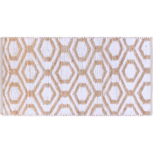 Tapis en Coton Blanc 70x140cm BAMBY