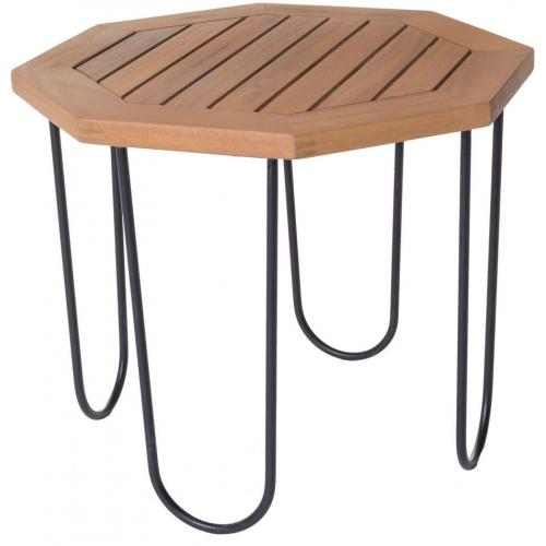 3S. x Home - Table de Jardin Hexagonale Acacia SELMA - Le jardin