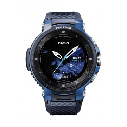 Casio - Montre Connectée Casio Pro Trek smart WSD-F30-BUCAE - Montre Connectée Wear OS by Google Homme - Casio Montres