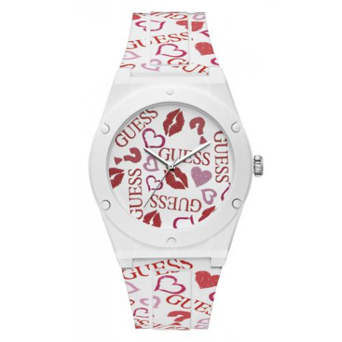 Guess Montres - Montre Guess W0979L19 - Montre Silicone Logo Guess Femme - Mode femme