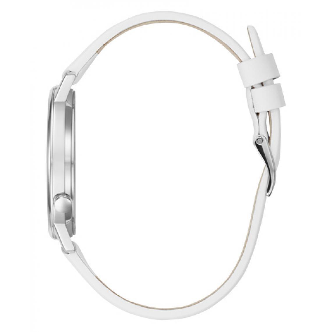 Montre Guess V1022M1 Montre Bracelet Cuir Blanc Logo Guess Multicouleurs Guess Montres Plus de détails