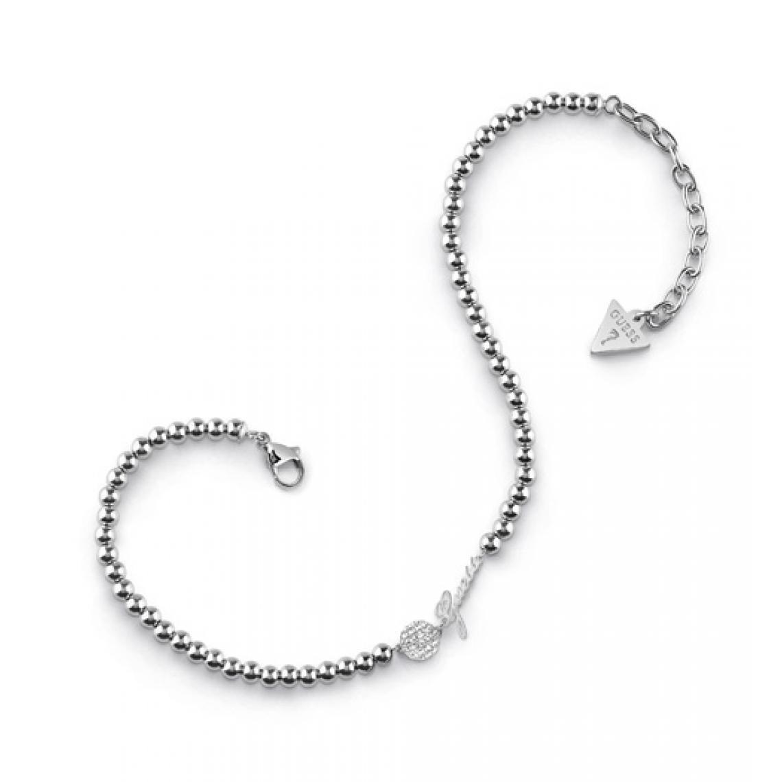 Bracelet Guess POMPOM UBA78003 Bracelet de cheville acier boules pastille pavée de cristaux Swarovski Guess Bijoux