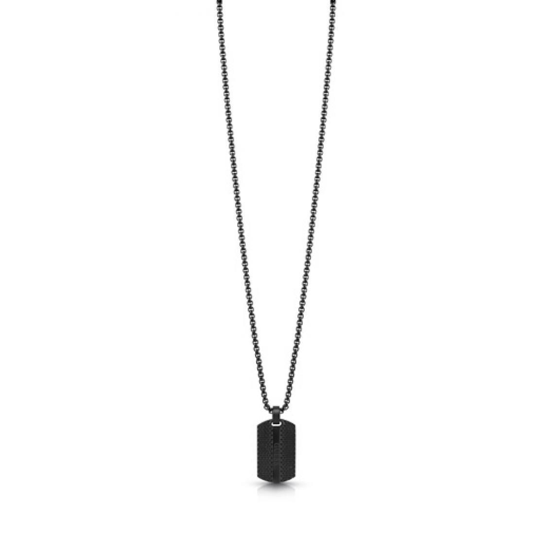 collier homme pendentif noir