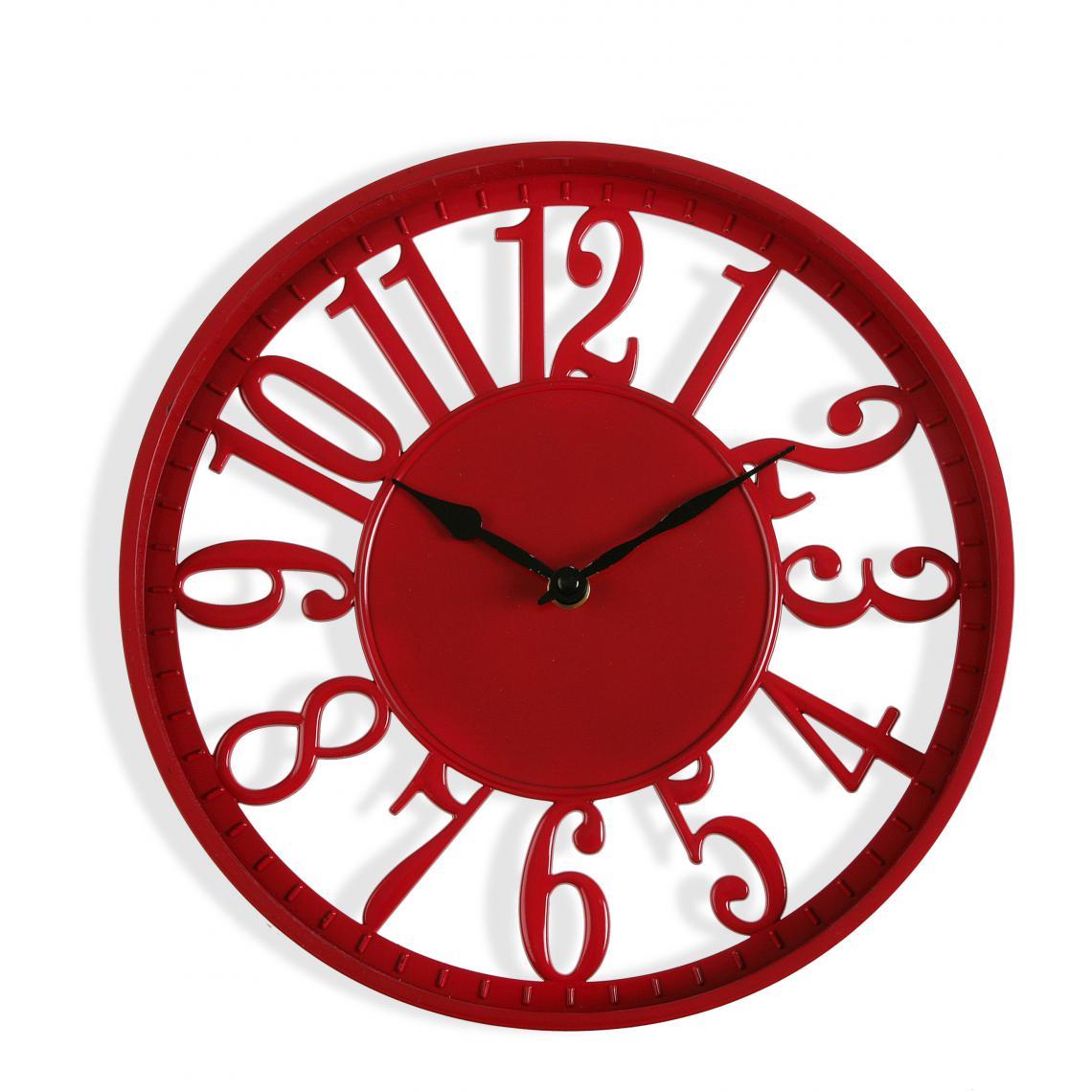 Horloge Murale Rouge 15cm COXY 15 Avis Plus de détails