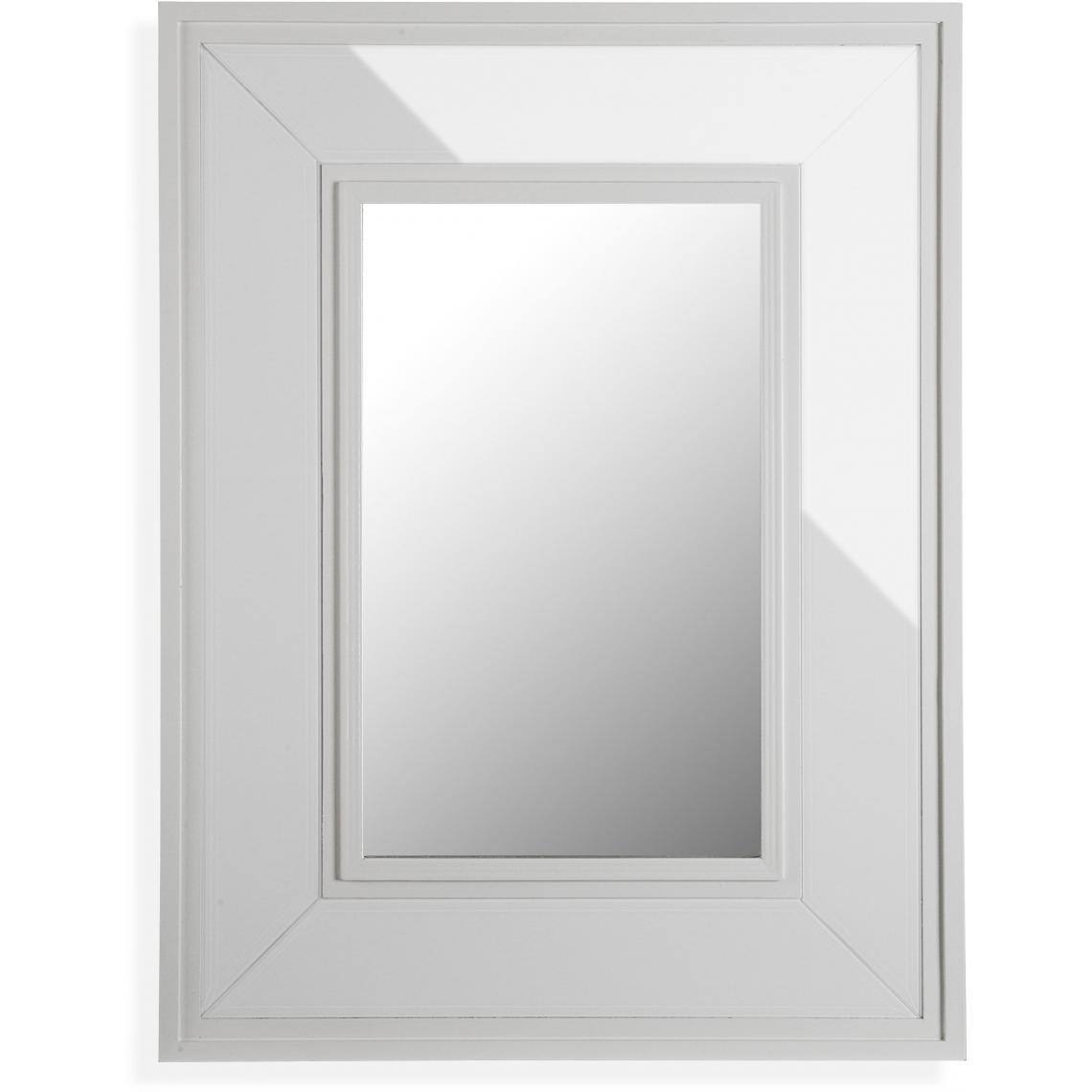 Miroir Mural Cadre Blanc Sino 3 Suisses