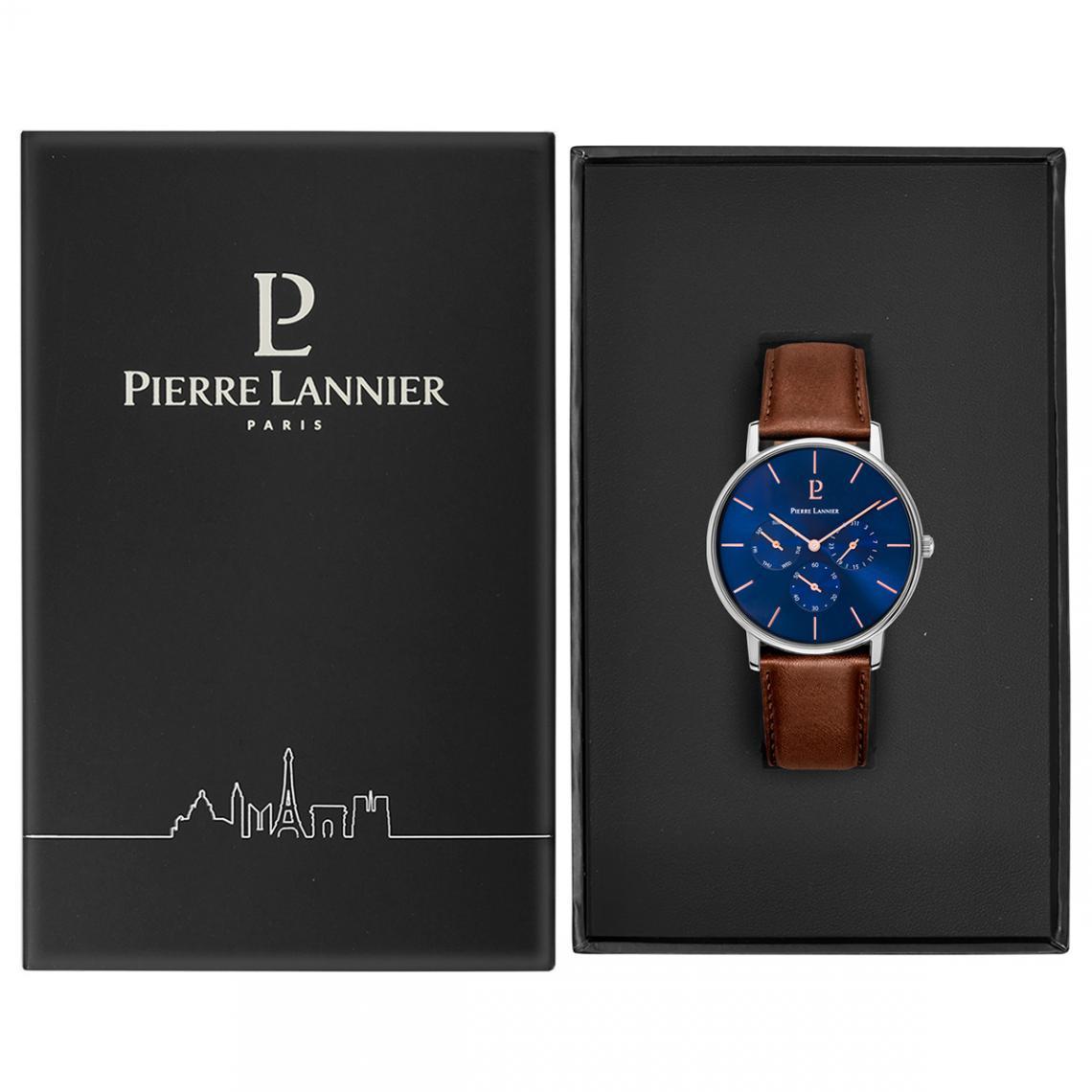 montre homme bracelet cuir bleu