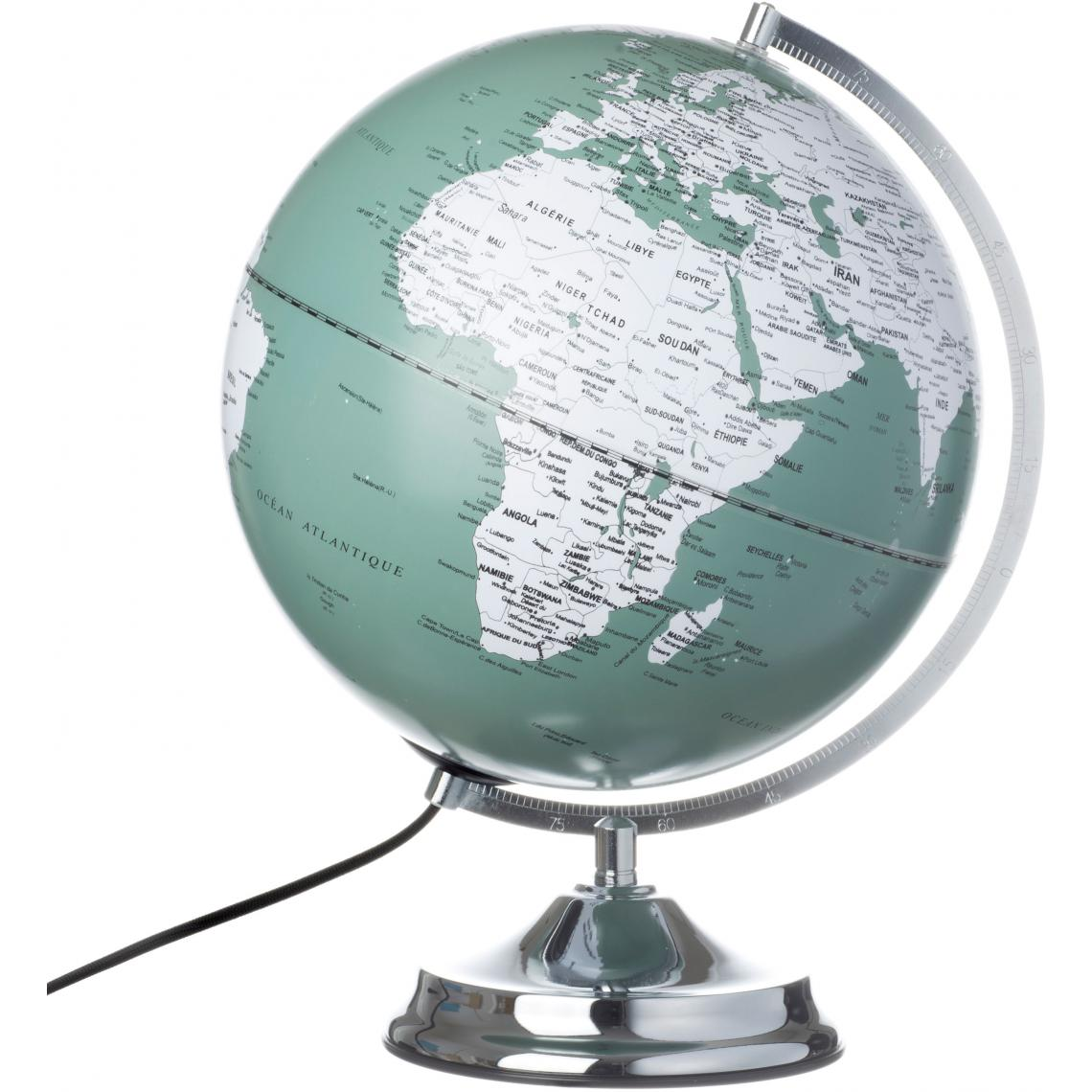 Poser Globe Lampe À World3 Vert Lumineux Suisses wkN8POn0X