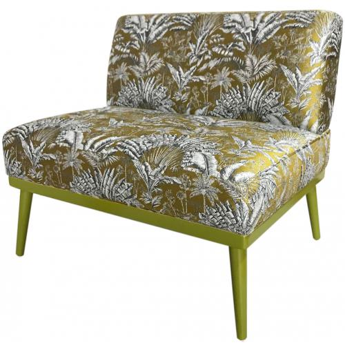 3S. x Home - Fauteuil Oversize Angkor en Jacquard Or HEPBURN - Promo Fauteuil, pouf