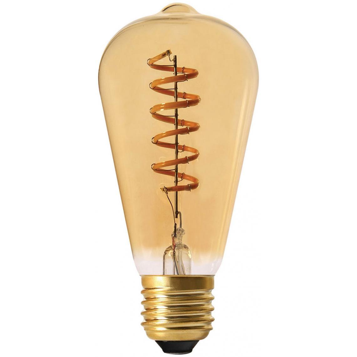 Ampoule Ambrée SWAE Filament Spirale LED E27 2W