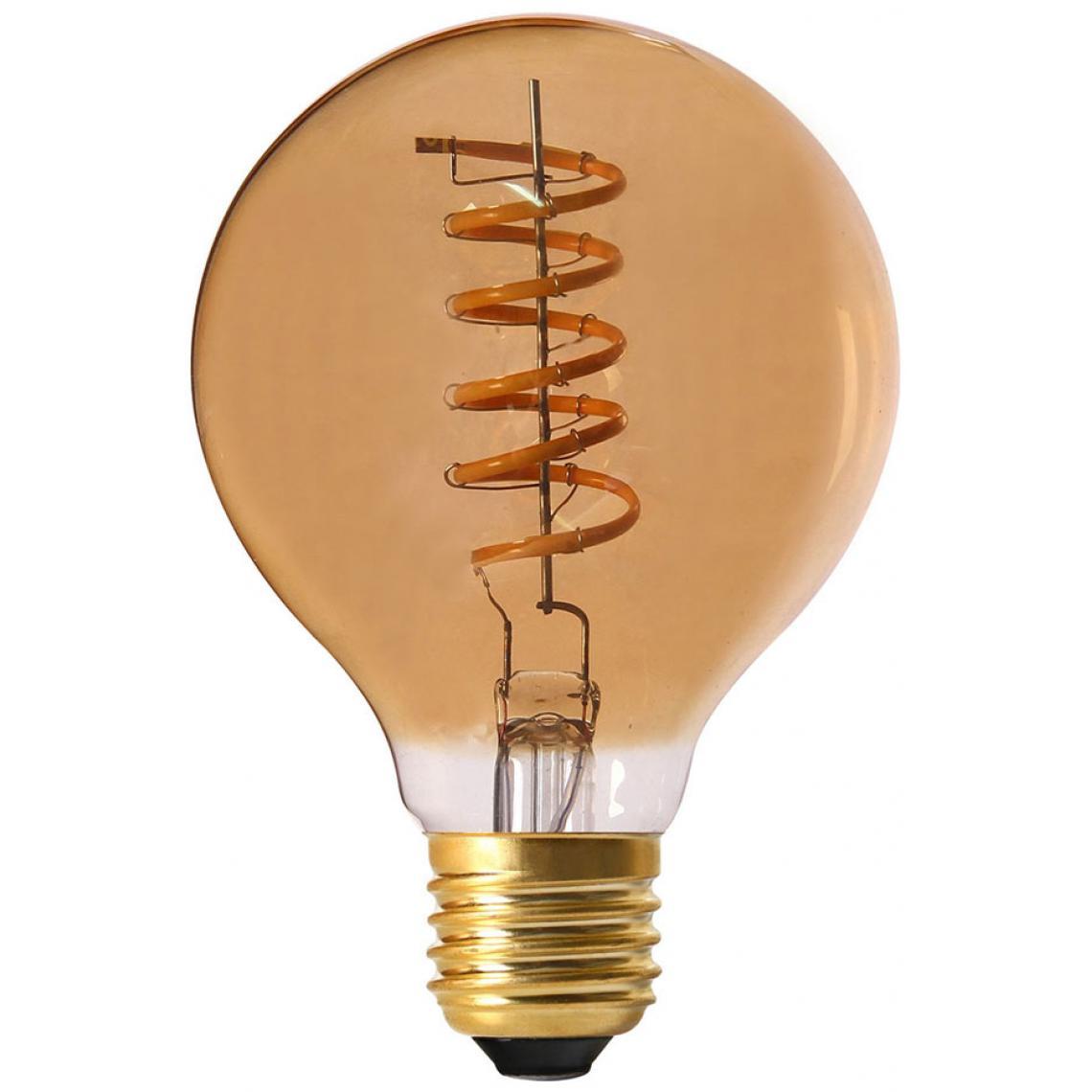Ampoule Ambrée Ronde SWAE Filament Spirale LED E27 2W