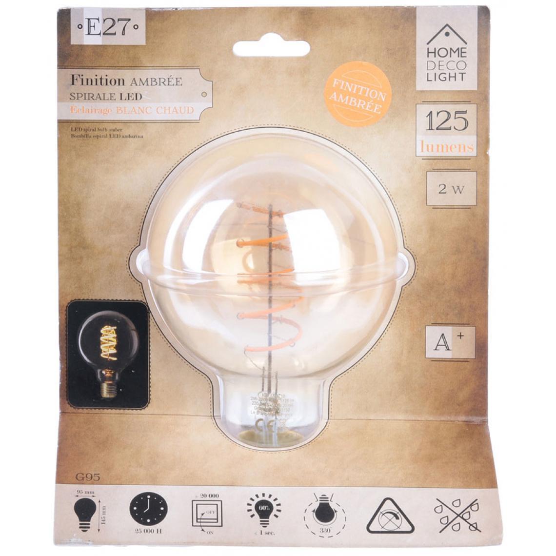 Ampoule Ambré Boule E27 LED Spirales 2W SWAE zkmWA