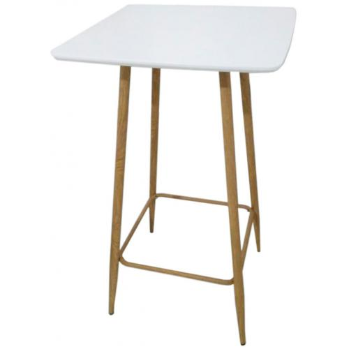 3S. x Home - Table Mange Debout en Métal Blanc JEANNE - Table