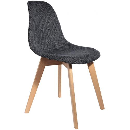 3S. x Home - Chaise Scandinave en Maille Noire ORKNEY - Chaise