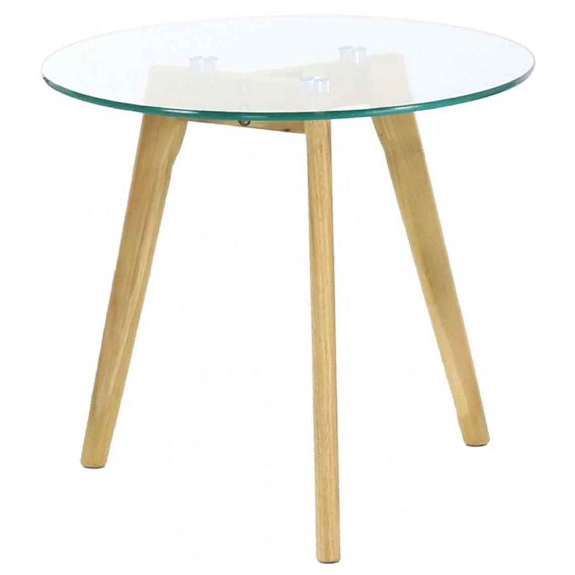 table basse plateau en verre d50cm maca 3 suisses. Black Bedroom Furniture Sets. Home Design Ideas
