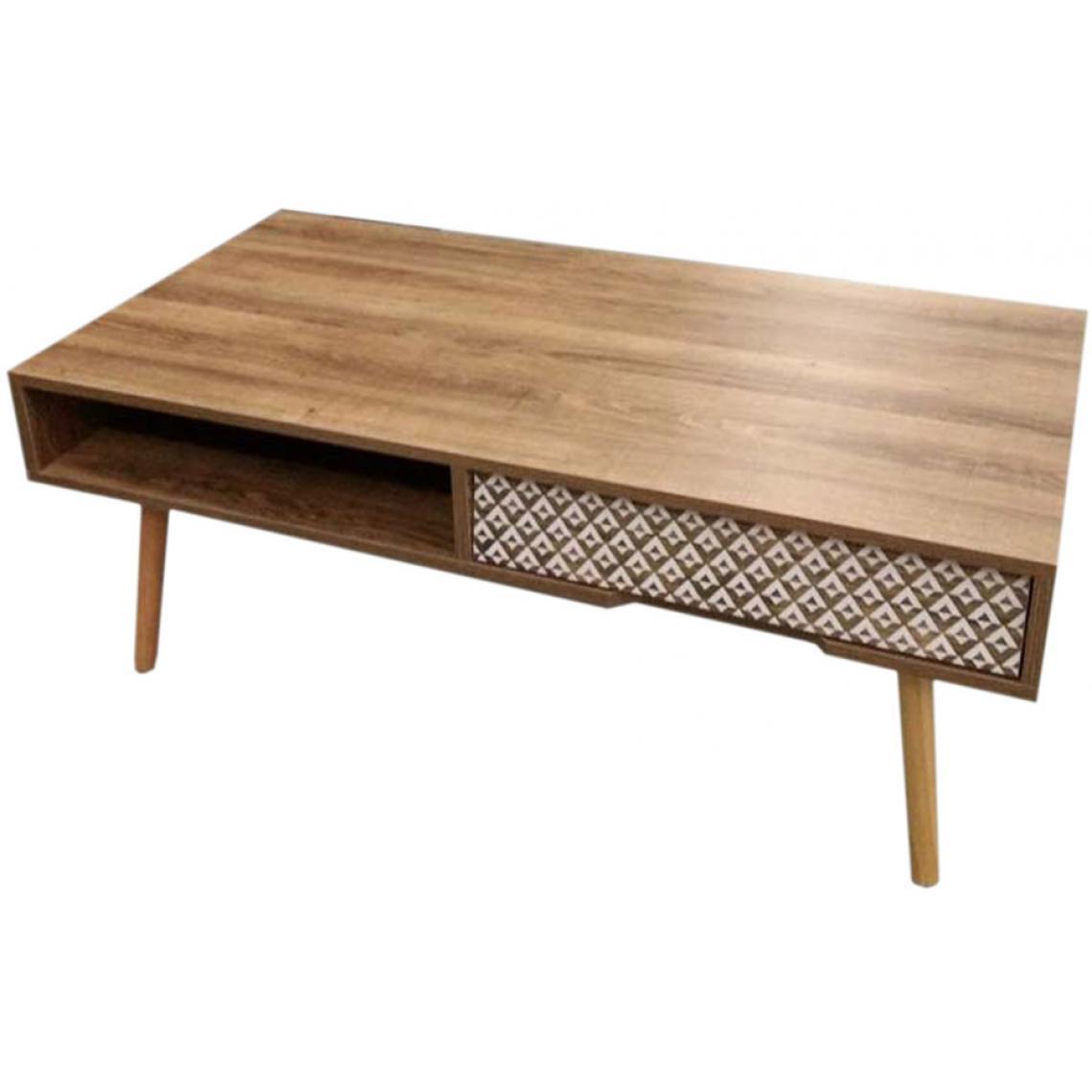 table basse avec tiroir en bois schleswig 3 suisses. Black Bedroom Furniture Sets. Home Design Ideas