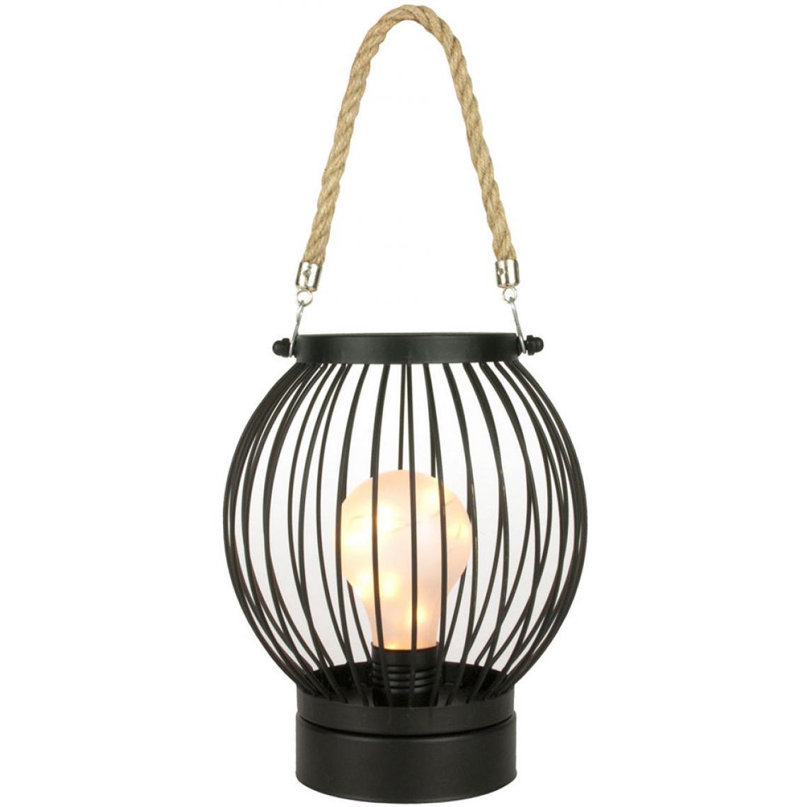 Lanterne Et Suisses Filaire En Fer Ampoule Avec Led Noir Corde Lixta3 uT1JlFKc3