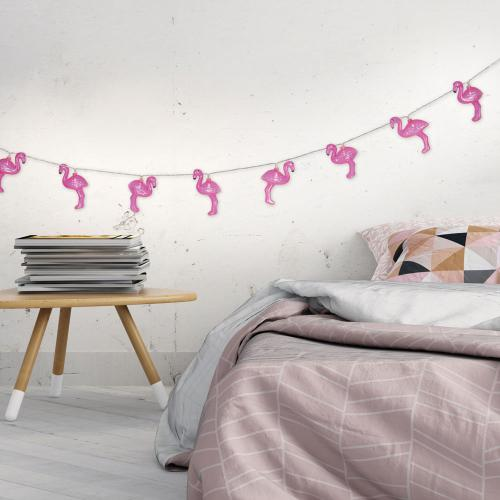 3S. x Home - Guirlande Lumineuse Flamant Rose LOFOTEN - Décoration lumineuse
