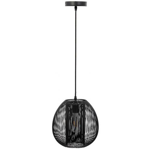 3S. x Home - Suspension Boule Filaire en Métal Noir PORI - Suspension