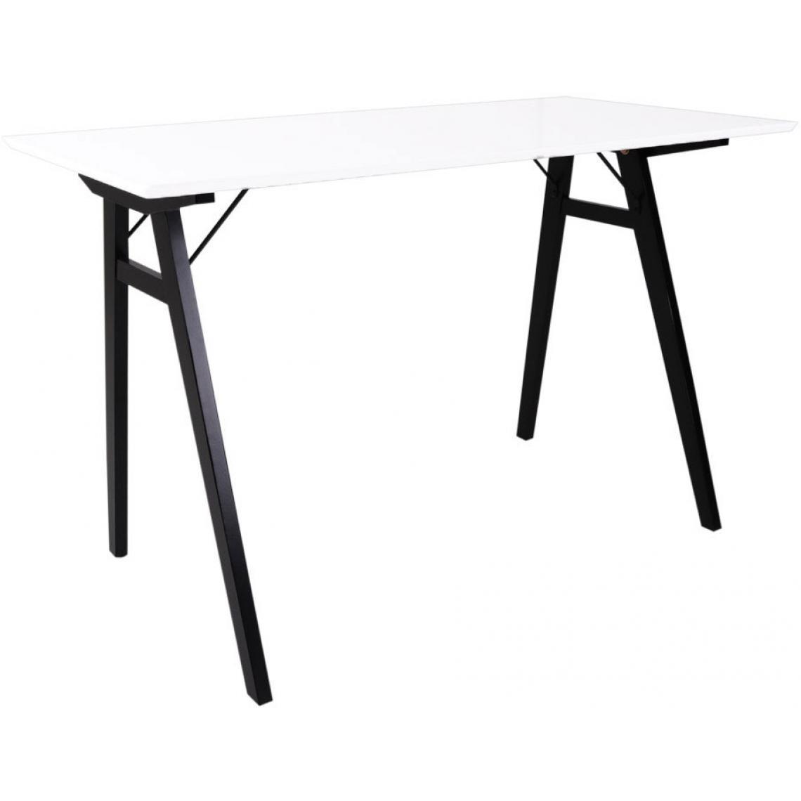 Bureau Noir Et Blanc bureau en bois noir et blanc vojens plus de détails