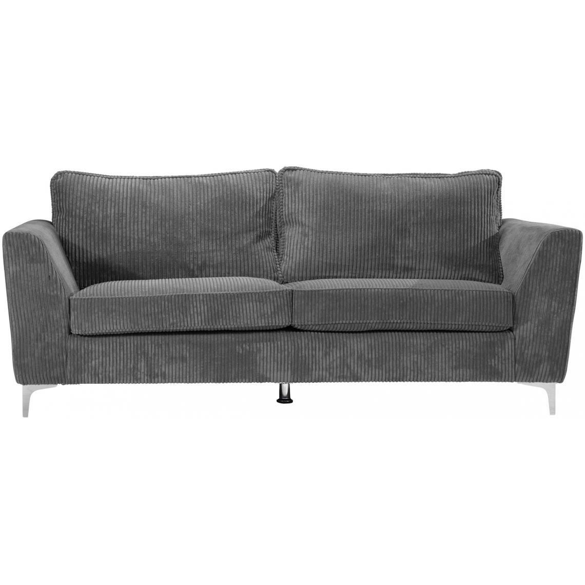 Canapé En Velours Cotelé canapé 3 places en velours côtelé gris bonita plus de détails