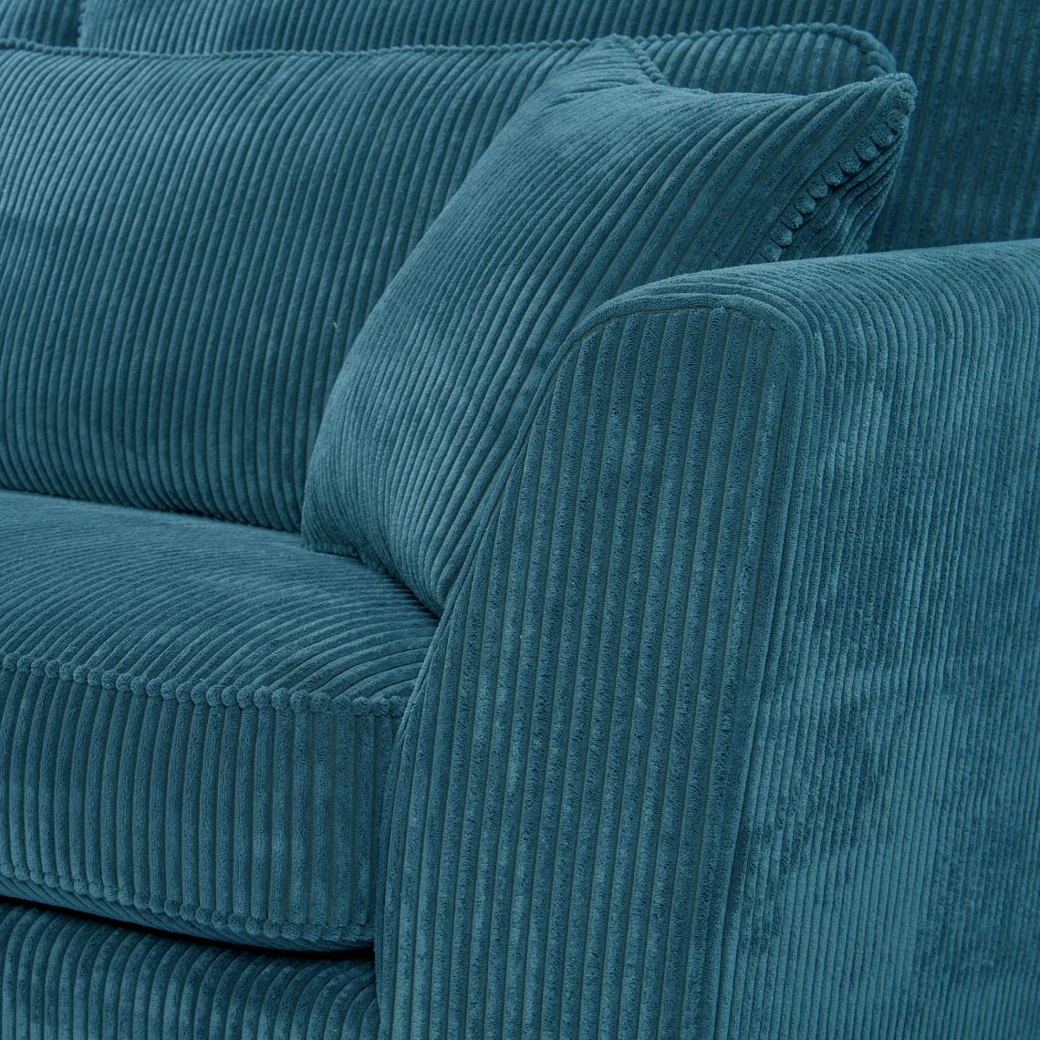Canapé En Velours Cotelé canapé d'angle 5 places en velours côtelé bleu isla plus de détails