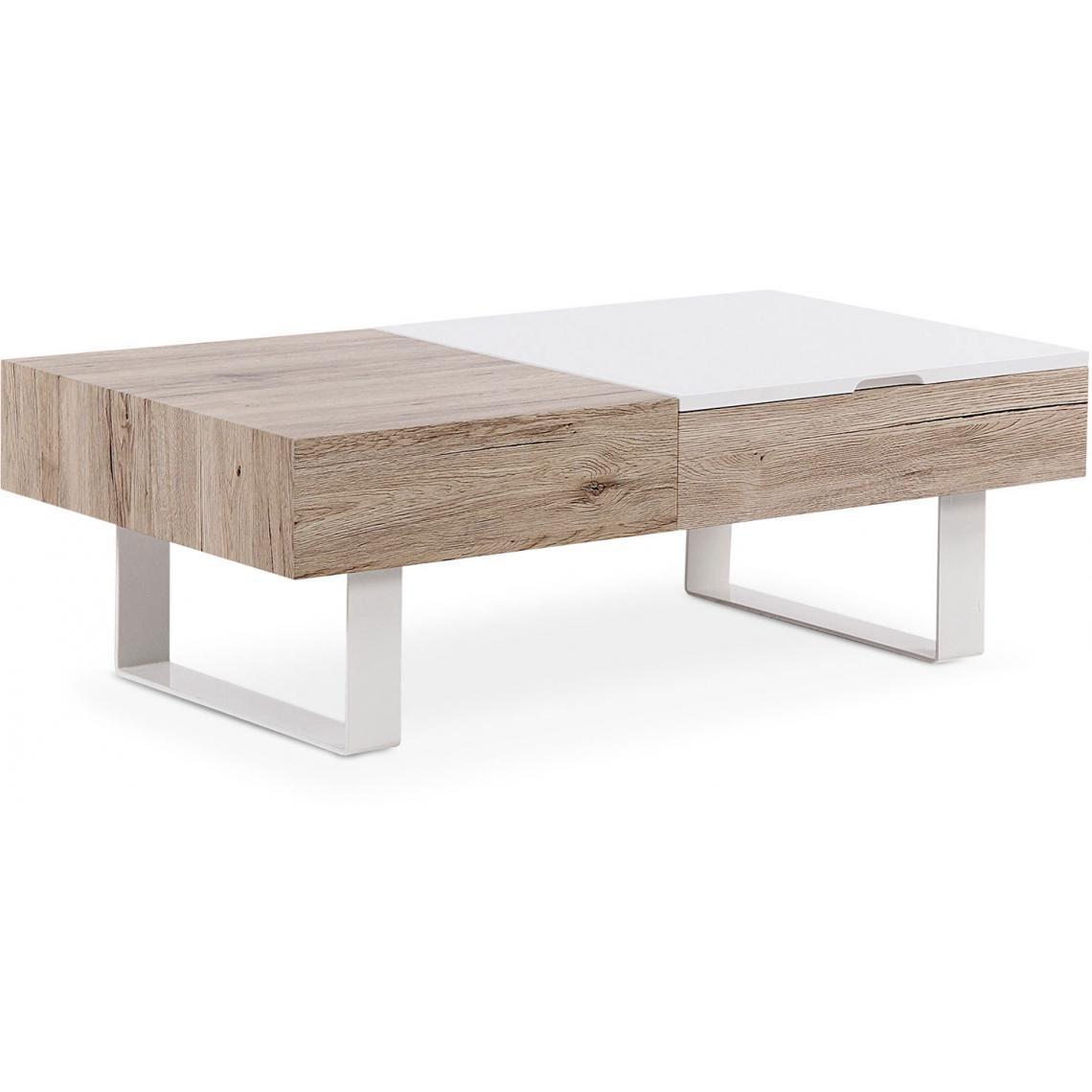 Table Basse Relevable En Chene Clair Jolly 3 Suisses
